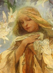 Alphonse Mucha - Madonna of the Lilies - detail (ArtAppreciated) Tags: fineart painting blogs tumblr artblogs artappreciated artoftheday artofdarkness artofdarknessco artofdarknessblog