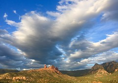 Cloudscape (edgoldstein007) Tags: sunset nimbus nubes afternoon weather peak cliff sandstone blue shadow cumulous cirrus hillside spectacular beautiful sedona arizona mountain sky cloud