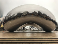 Bliss (Flipped Out) Tags: chicago cloudgate millenniumpark thebean