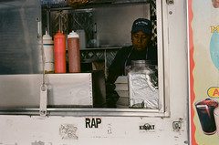 Taco Truck (slightheadache) Tags: 2016 analog ektar ektar100 film nyc newyork newyorkcity tacotruck rap kidult hotsauce