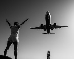 Fly Robin fly (Georgie Pauwels) Tags: airplane plane jet flying airport arrival aircraft aviation street candid olympus streetphotography moment joy travel