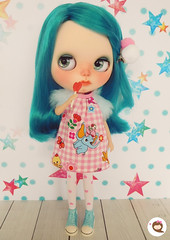 My candy girl. Dress available.