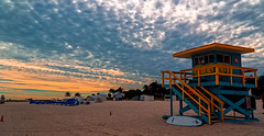When the beach day ends. © ® (The Sergeant AGS (A city guy)) Tags: seashore beachscape afternoon sunset lifeguardhouse skies sobe colors clouds miamibeach walking walkingaround outdoors urban urbanexploration unitedstates