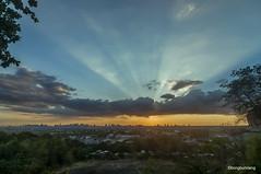 good friday sunset (Foto_bongbong) Tags: sky sunset city sun metro manila antipolo tokina 1116mm nikon d300s wide goodfriday