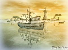 Orchid SL (Poppys_Second_Life) Tags: popi popikone popisadventuresin2l 2l secondlife virtualphotography poppy picsbyⓟⓞⓟⓟⓨ sl orchid lighthouse boat reflections