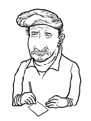 Rembrandt (Don Moyer) Tags: rembrant hat ink drawing sketchbook moyer donmoyer brushpen