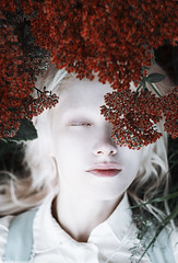 Maybe if I fall asleep (alexandra_bochkareva) Tags: helios portrait pale white red fairy flower beauty
