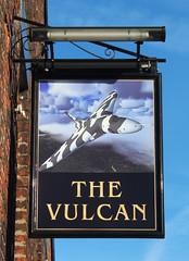 English Pub Sign - The Vulcan Inn, St Helens (big_jeff_leo) Tags: sthelens england english streetart sign painted art pub bar tavern