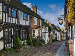 The gorgeous Mermaid street of Rye, East Sussex. Only 30 mins drive from Dungeness in Kent another great location for photography. (lloydich) Tags: sussex mermaid street rye medieval quaint old pretty beautiful daytime