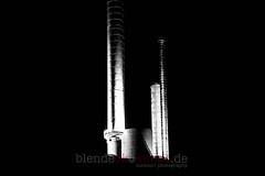 Lighthouse (blende9komma6) Tags: hannover germany linden nikon d7100 lighthouse leuchtturm ihmezentrum power plant heizkraftwerk night nacht light steel stahl silver bw sw dark urban