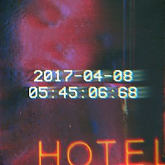 5:45am (BLACK EYED SUZY) Tags: afterlight lumiè glitché insomnia self hotel neon distortion blur night late sleepless woman portrait abstract vhs