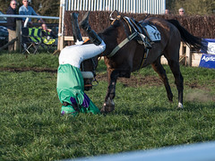 Frightening - Luckily both horse & rider walked away (Steve Barowik) Tags: yorkraces racecourse grandstand horse jockey trainer groom cropframe saddle plate whip hunter chaser hound pointtopoint point2point stevebarowik barowik 70200mmf28vrii jorvik ebor eboracum jump fence hurdle canter hack sbofls26 nikond500 quantumentanglement wonderfulworld unlimitedphotos flickrelite dx badsworthbramhammoor hunt askhambryan