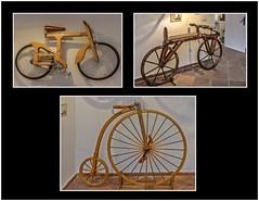 Wooden bicycles 2. (ro-co) Tags: fz200 panasonic malaga spain bicycles tripplephotos