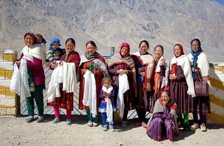 Pilgrims visiting Kye monastery, India 2016