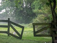 Broken Gate (guillecabrera) Tags: olympus olympusomdem1 50200mm texas barn country morning