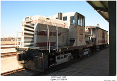 UCRY 44-T 1237 (Robert W. Thomson) Tags: ucry utahcentral ge diesel locomotive fouraxle 44ton switcher switchengine centercabswitcher train trains trainengine railroad railway ogden utah
