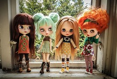 All my #custom girls 😊 Outfits and custom by me #blythe #doll #crochet #sewingYou can find me (dolliina) on instagram now!