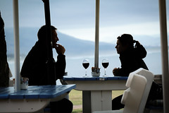 red wine & a sea view (WITHIN the FRAME Photography(3 Million views tha) Tags: street people hermanus outdoors evening candid digitalart silhouettes redwine relaxed chilled nx300