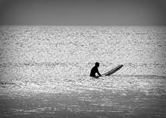 The tin foil sea. Explore (eddieELM) Tags: ireland sea 2 blackandwhite bw monochrome canon silver eos surf peace minimal donegal rossnowlagh 600d rebelt3i kissx5