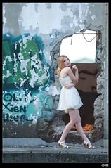 nEO_IMG_DP1U1634 (c0466art) Tags: portrait motion art beauty pose bride pretty outdoor ruin blond attractive cloth charming elegant russian yuna goegeous