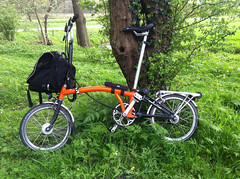 my folding bicycle (✿ willem ツ) Tags: brompton vouwfiets plooifiets