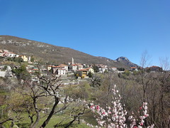 Radtour ohne Schneesturm II (martin loetzsch) Tags: italien mountains geotagged cycling spring village liguria blossoms radtour bergdorf carpe ligurien loano obstblte geo:lat=4414158328680957 geo:lon=8162097197287274