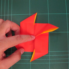 สอนวิธีพับกระดาษเป็นดอกกุหลาบ (แบบฐานกังหัน) (Origami Rose - Evi Binzinger) 007