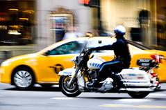 Fidelis ad Mortem (sopasnor) Tags: road nyc newyorkcity ny newyork carretera manhattan cab taxi police nypd midtown motorbike moto newyorkcitypolicedepartment