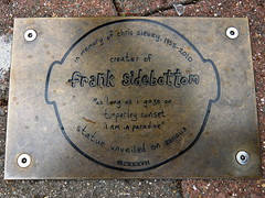 Frank Sidebottom Plaque (marbowd37) Tags: statue plaque frank manchester madchester timperley sidebottom manchestermusic franksidebottom chrissievey