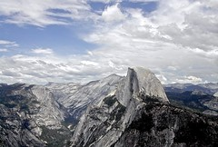Happy Earth Day! Half Dome (David McSpadden, Many thanks for viewing my photos) Tags: clouds yosemite halfdome therangeoflight yosemitefamilythroughyears