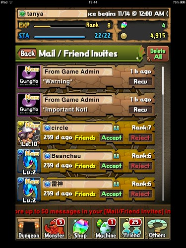 Puzzle and Dragons Social: screenshots, UI