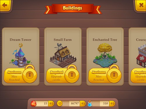 Tiny Castle Items Store: screenshots, UI