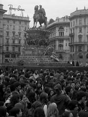 Manifestazione in Piazza Duomo (nickbit) Tags: people white black milan milano protest photojournalism style strike duomo manifestazione nikond5100