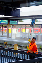 Let's do the job (mripp) Tags: portrait people streetphotography railway bahnhof cleaning reinigung