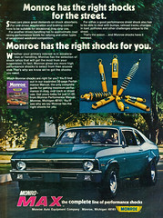 Monroe Shock Absorbers with 1970 Chevrolet Nova Coupe (coconv) Tags: pictures auto street door old 2 two classic cars chevrolet nova car sport sedan vintage magazine ads advertising cards photo flyer automobile post image photos antique postcard ss ad picture super images advertisement vehicles photographs chevy card photograph postcards monroe vehicle shock rod 1970 autos collectible collectors brochure 70 coupe automobiles dealer cutom prestige absorbers