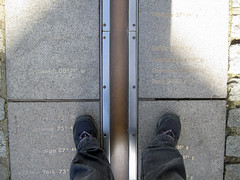On the Meridian (Wosog) Tags: london greenwich observatory february meridian 2014