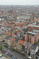 Antwerpen from above. (Azariel01) Tags: above city panorama belgium belgique belgie sight constructionsite vue antwerpen ville anvers chantier boven 2014 werf audessus