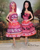 Sweet Rosie & Snowprincess in Kitten Dresses (The doll keeper) Tags: pink cats white black hair doll sweet ooak rosie barbie kittens snowprincess