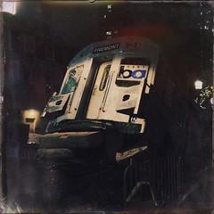 Godzilla subway crash (Leo Reynolds) Tags: 4s iphone 0sec hpexif iphoneography hipstamatic iphone4s xleol30x oggl grouphipstamatic groupiphone xxx2014xxx xxgeotaggedxx