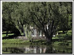 Park Pavilion (jsleighton) Tags: tree reflections landscape pond ducks pavilion newburgh downingpark