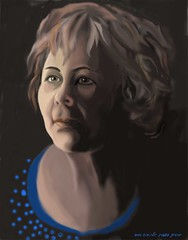 Portrait of Dina. Created by Photoshop, August 2013
