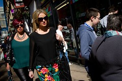 Cruel Summer (Leanne Boulton) Tags: life lighting street city ladies girls light shadow summer portrait people urban woman sun sunlight motion color colour window dutch face sunglasses modern lady female composition contrast canon reflections shopping walking lens scotland living store spring movement women colorful shadows angle faces adult natural humanity outdoor pavement expression glasgow feminine candid wide hard streetphotography makeup sigma style scene redhead sidewalk busy human mature shade 7d blonde surprised 20mm colourful framing tilt facial harsh hipshot candidstreetphotography