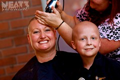 Mother's Love (Neat 3 Photography) Tags: red portrait people haircut love smile smiling portraits person photography photo kid eyes flickr child mother cancer bald culture ears son shaving nohair motherslove beatcancer shavee neat3photography aidenslegacy aidenslegolegacy