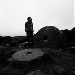 Week 49 (ronet) Tags: selfportrait mediumformat blackwhite hasselblad scanned hasselblad500cm ilforddelta100 homedeveloped millstones 52weeks
