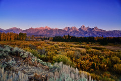 Tetons at dawn (Jackpicks) Tags: west wyoming grandtetonnationalpark blueribbonwinner blacktailpondsoverlook