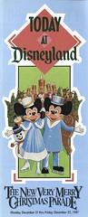 Today at Disneyland, December 21-25, 1987 01 - cover (Tom Simpson) Tags: vintage disneyland 1987 disney guide brochure information vintagedisneyland vintagedisney todayatdisneyland