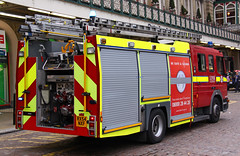 London Fire Brigade Mercedes Atego Soho Dual Pump Ladder - RX54 NXF (IOW 999 Pics) Tags: london fire mercedes soho pump ladder dual brigade atego rx54nxf