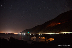 Stars over SH1 north of Pukerua Bay (111 Emergency) Tags: car stars lights bay sh1 pukerua