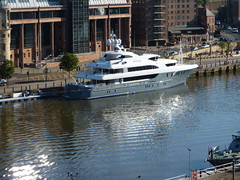 Sovereign (quintinsmith_ip) Tags: money river boat ship bank tyne lawcourts moor newcastleupontyne sovereign moorings 50million