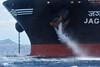 Jag Lalit anchor lowered (weeboopiper) Tags: anchorage bow hawai'i diamondhead tanker anchorwash offshoreanchorage jaglalit